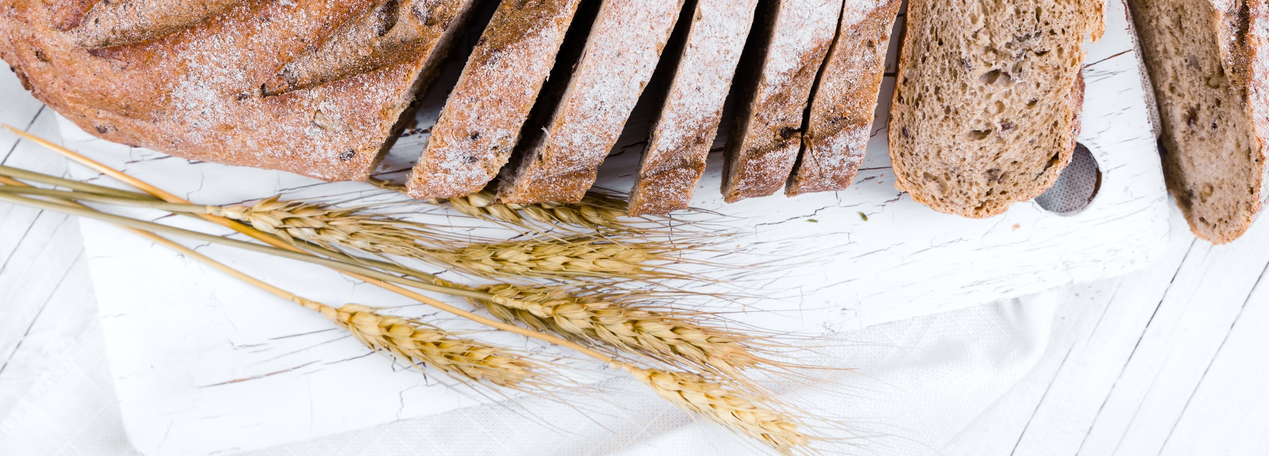 Bread contains gluten, which is a healthy protein for most people