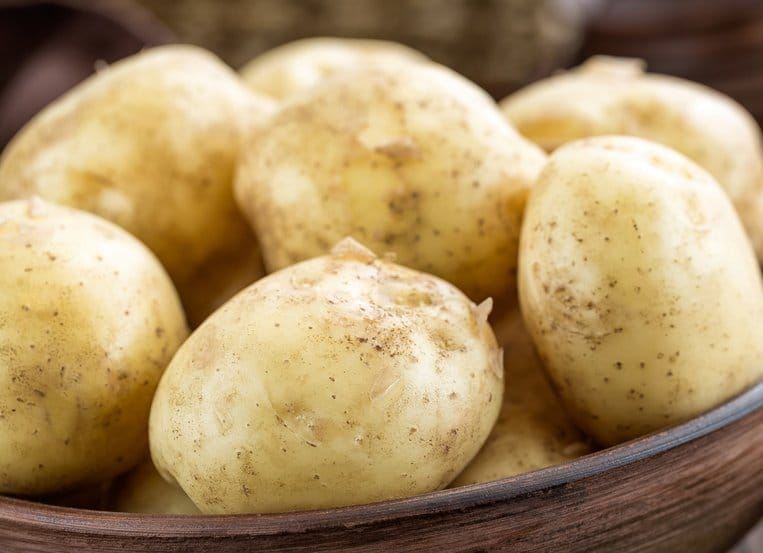 Potatoes: What happens to the starch in a potato when it is getting old